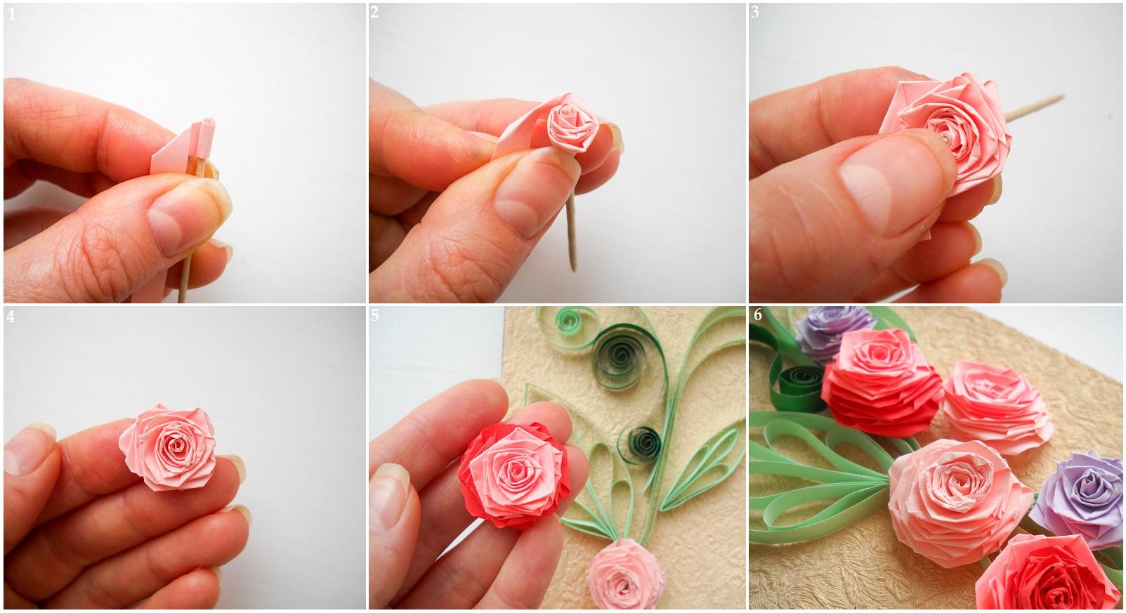 Роза из бумаги своими руками маленькие 47