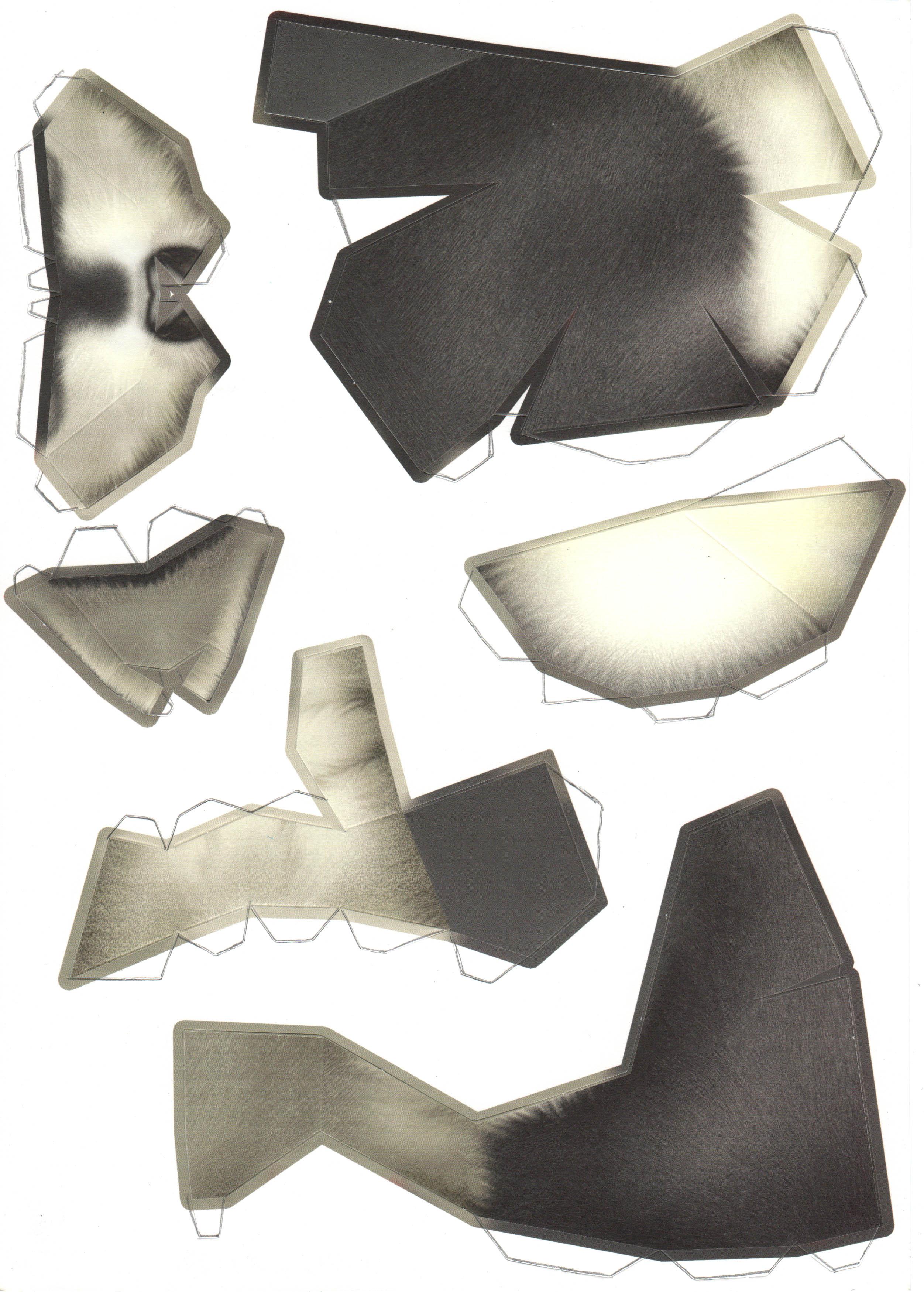 3d маски из бумаги схемы как сделать