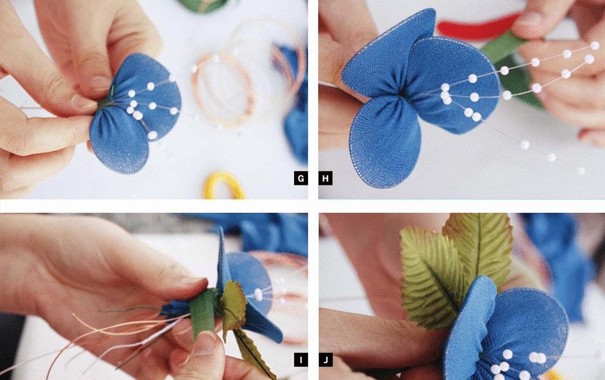 Как сделатьцветок из ткани своими руками 89