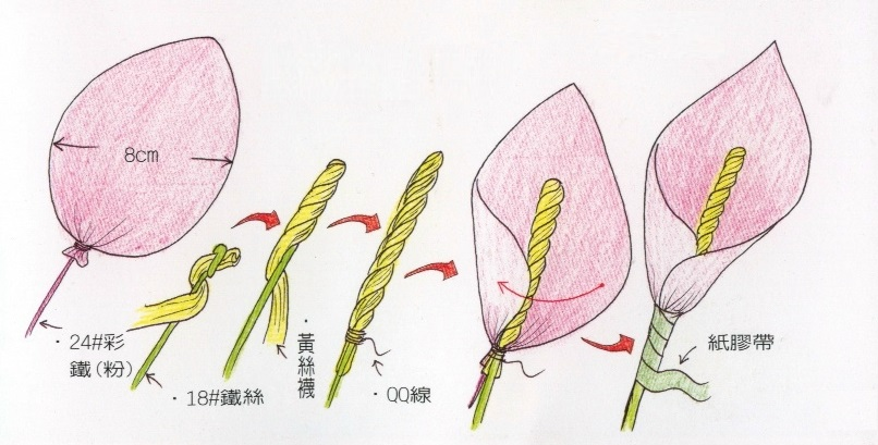 Каллы из капрона / Цветы из капрона / В рукоделии