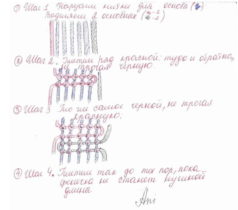 плетем фенечки схемы плетения