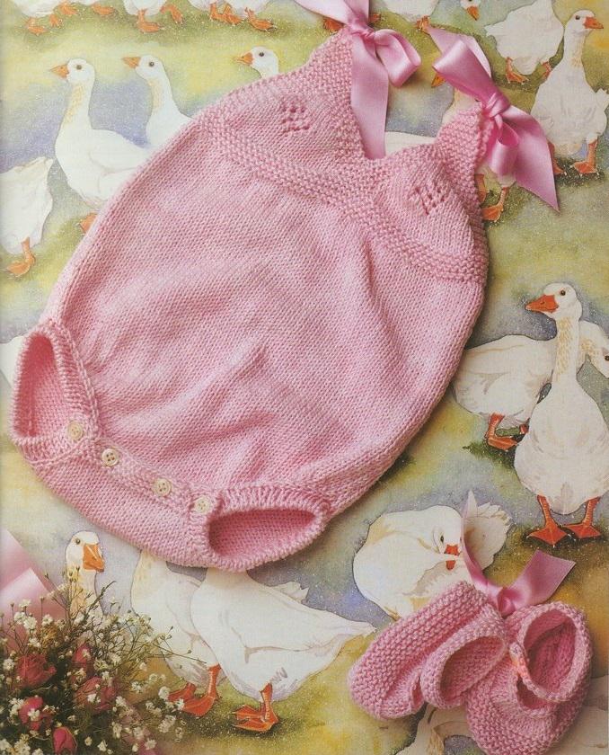 Боди вязание на новорожденного 462