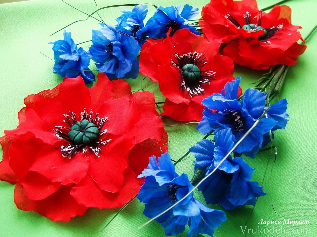 Цветы из ткани своими руками для 36