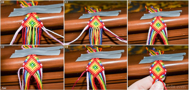 Вязание фенечки из мулине для начинающих мастер класс