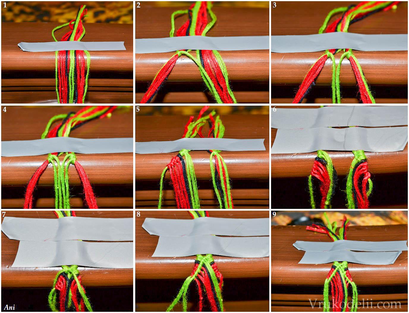 Фенечки из мулине схемы для начинающих из 4 ниток фото