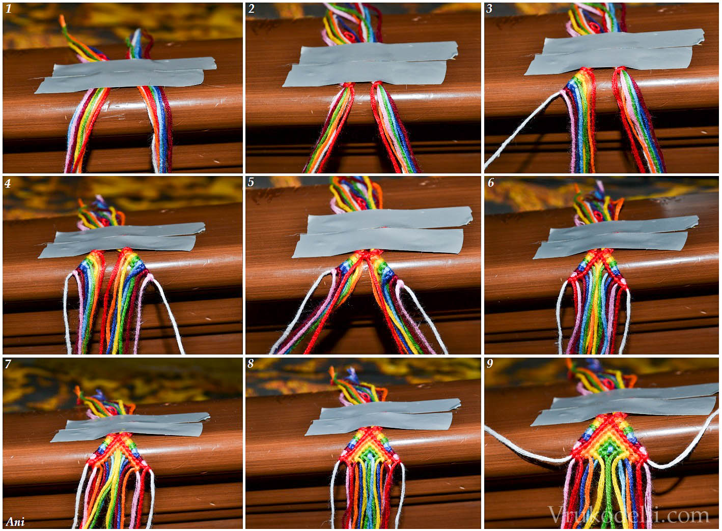 схема плетение феничек макроме
