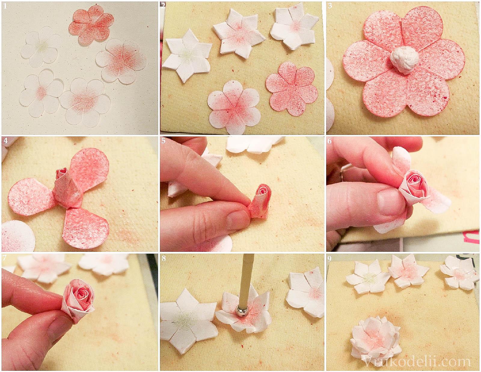 Скрапбукинг Украшение из роз своими руками