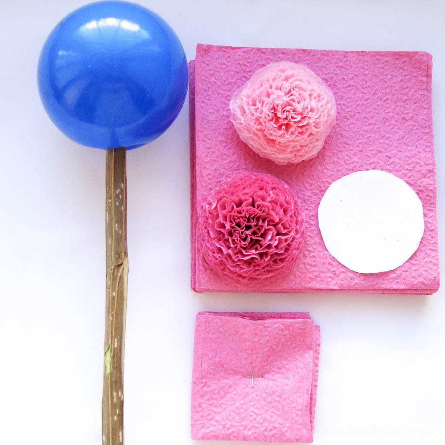 Как сделать шар из салфетки своими руками
