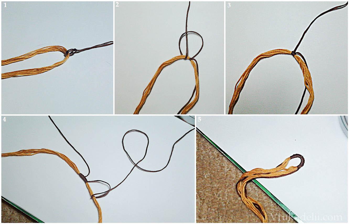 Как сделать петельку из ниток