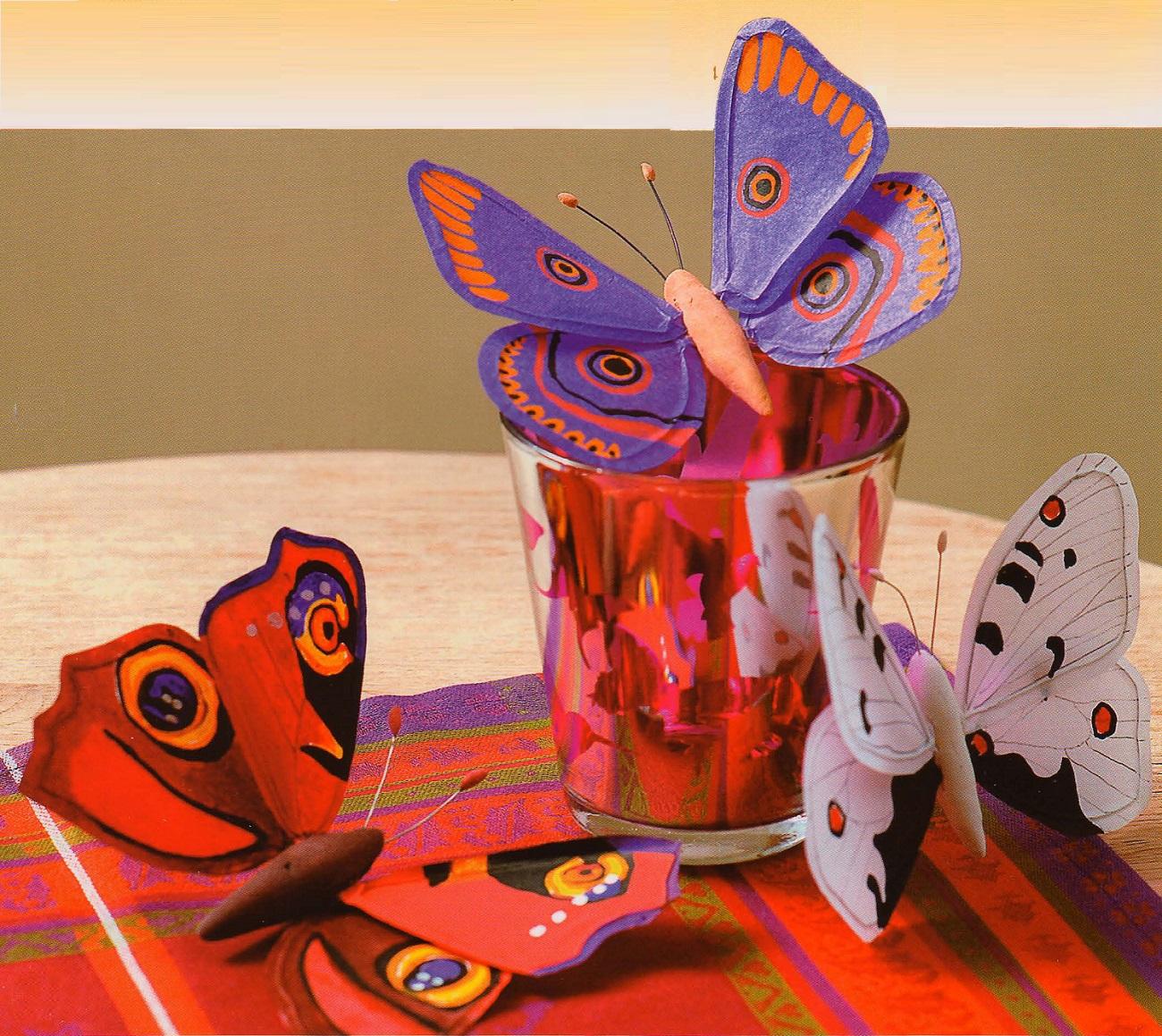 Сделать поделку бабочки своими руками