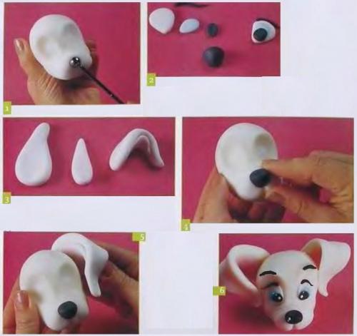 Как сделать собак из пластилина видео