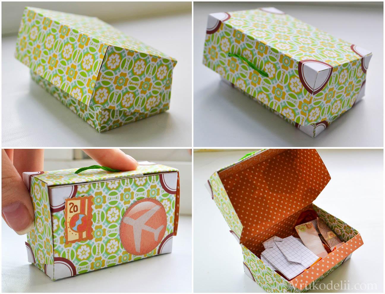 Своими, как сделать чемодан из открыток