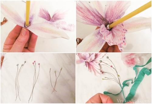 Орхидея своими руками из бумаги 12