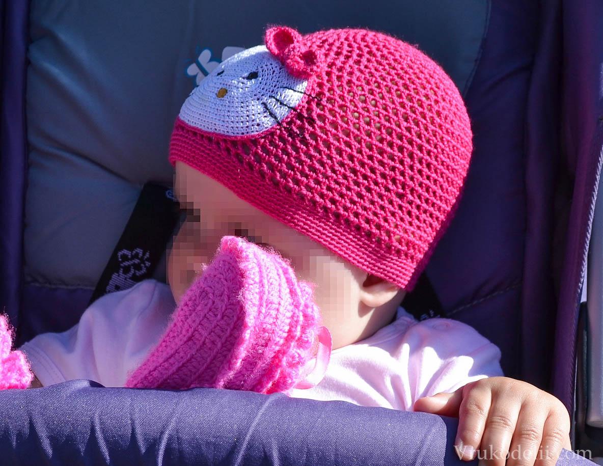 вязать детская осенняя шапка крючком схема