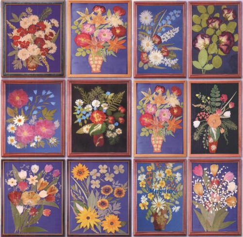 Картины цветов листьев