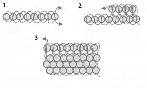 схема кирпичного плетения