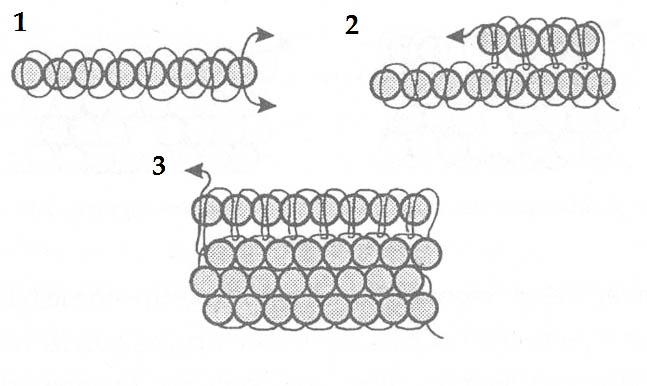 Кирпичное плетение бисером для начинающих схема