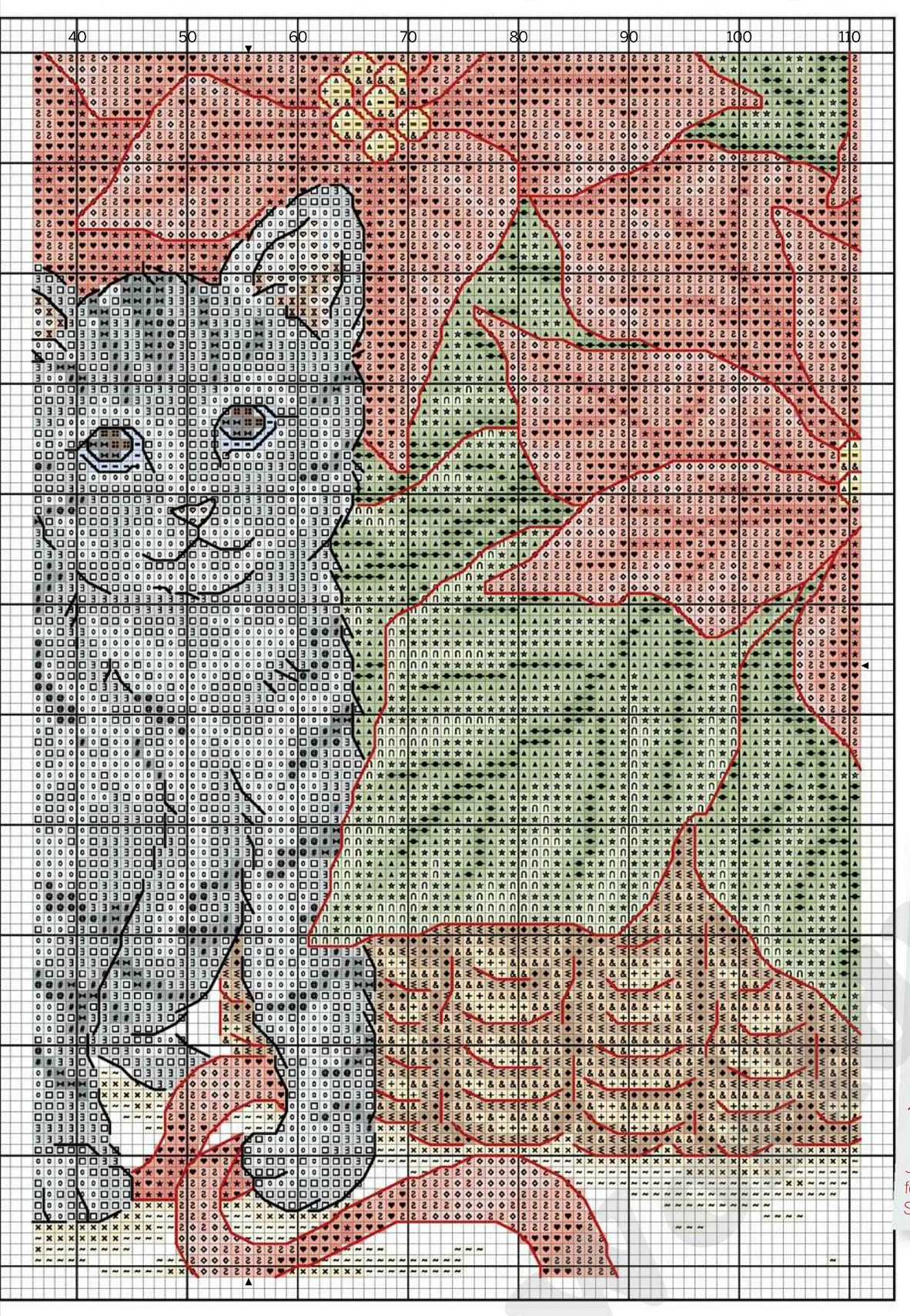 Схема вышивки сибирский кот 47