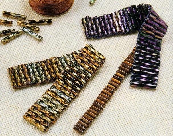 Стеклярус плетение браслетов из