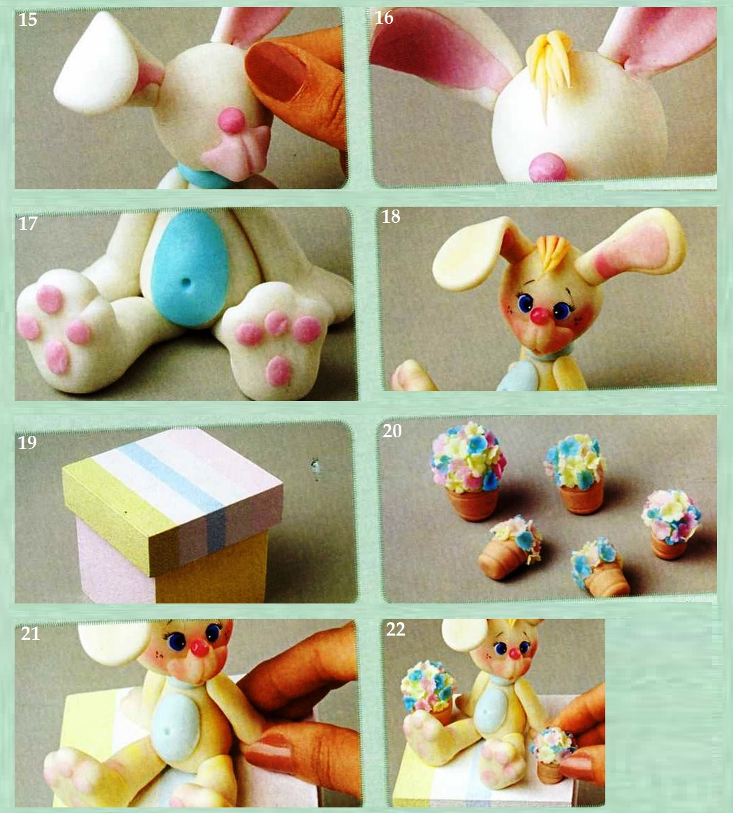 Как из мастики сделать зайца из 112