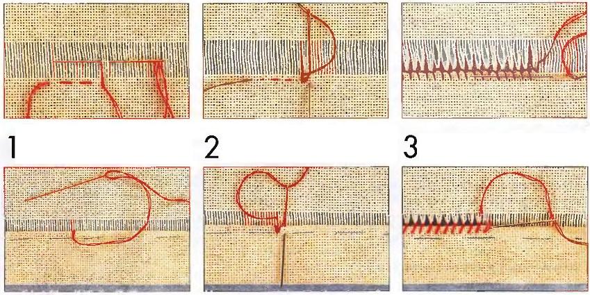 Мережка на ткани схема