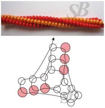 шнур плетения из бисера