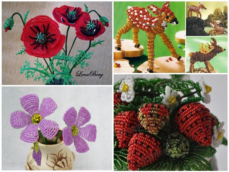 Цветы из бисера параллельным плетением видео