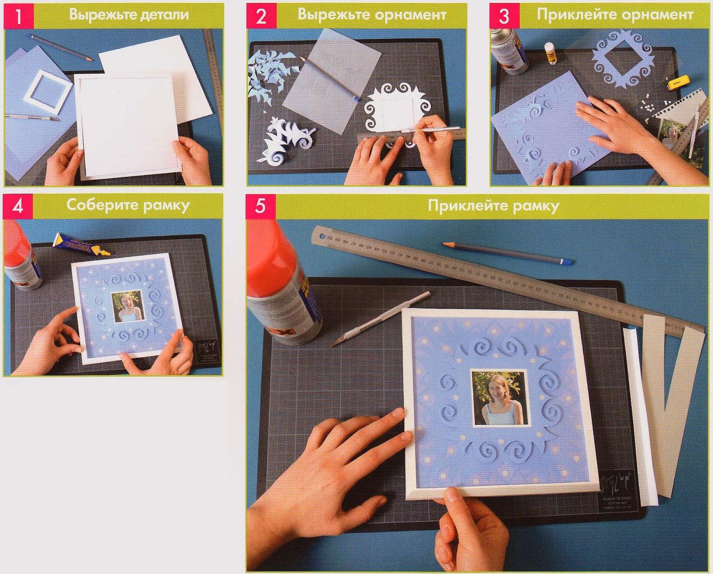 Как самой сделать рамки для из бумаги
