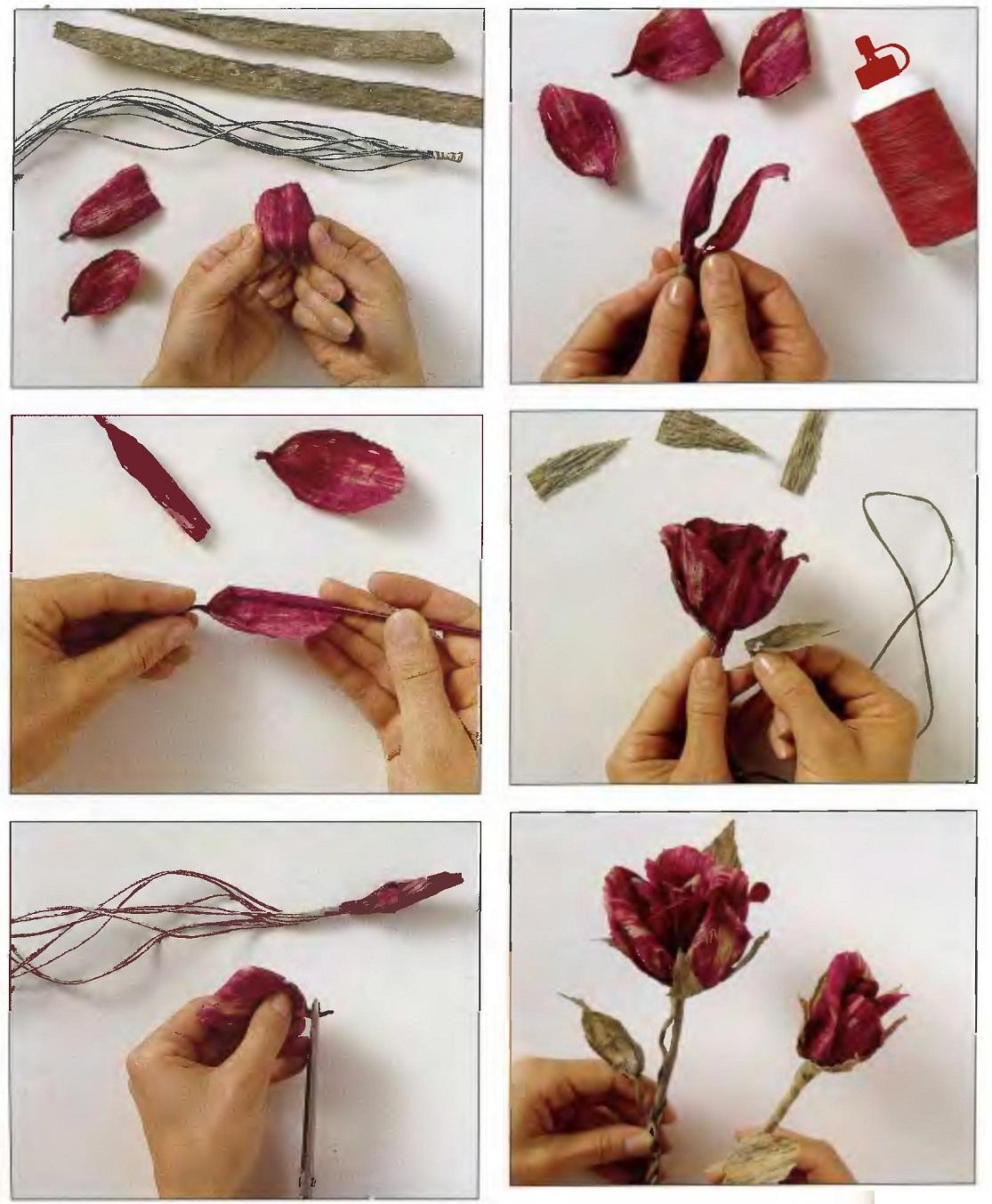 Как сохранить лепестки цветов для поделок
