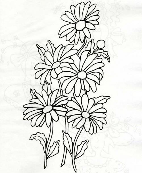 Рисунок ромашка для вышивки