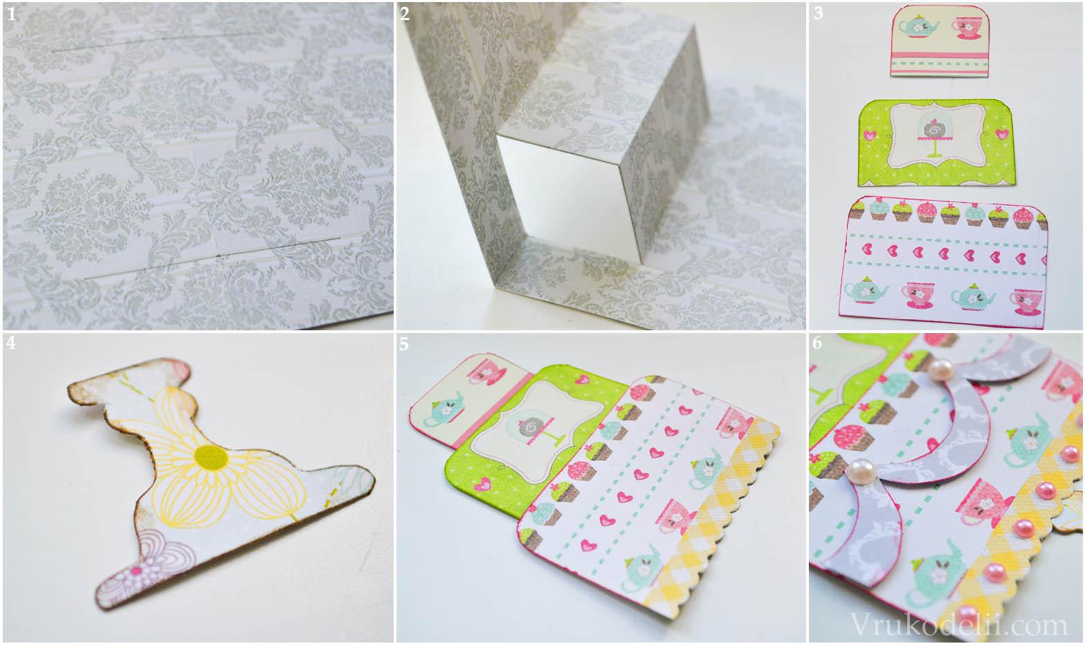 Как сделать объемную открытку торт своими руками