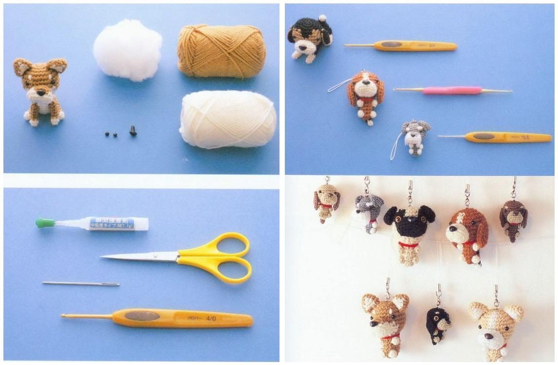 щенки амигуруми вязаные игрушки в рукоделии