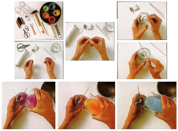 Как сделать свечи своими руками в домашних условиях фото
