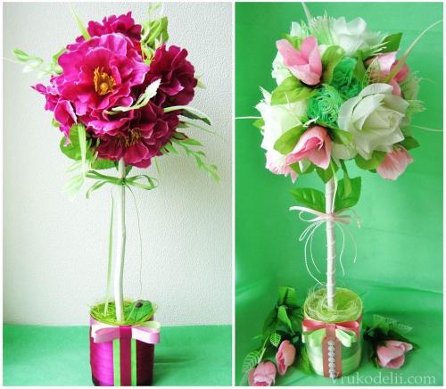 Декоративные цветы своими руками мастер класс 55