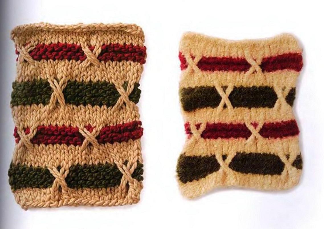 Вязание носков узором плетенка