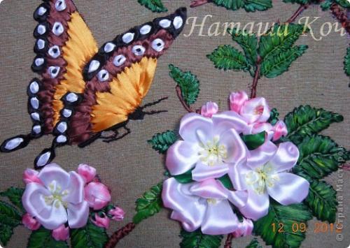 Вышивка лентами для начинающих пошагово бабочка 99