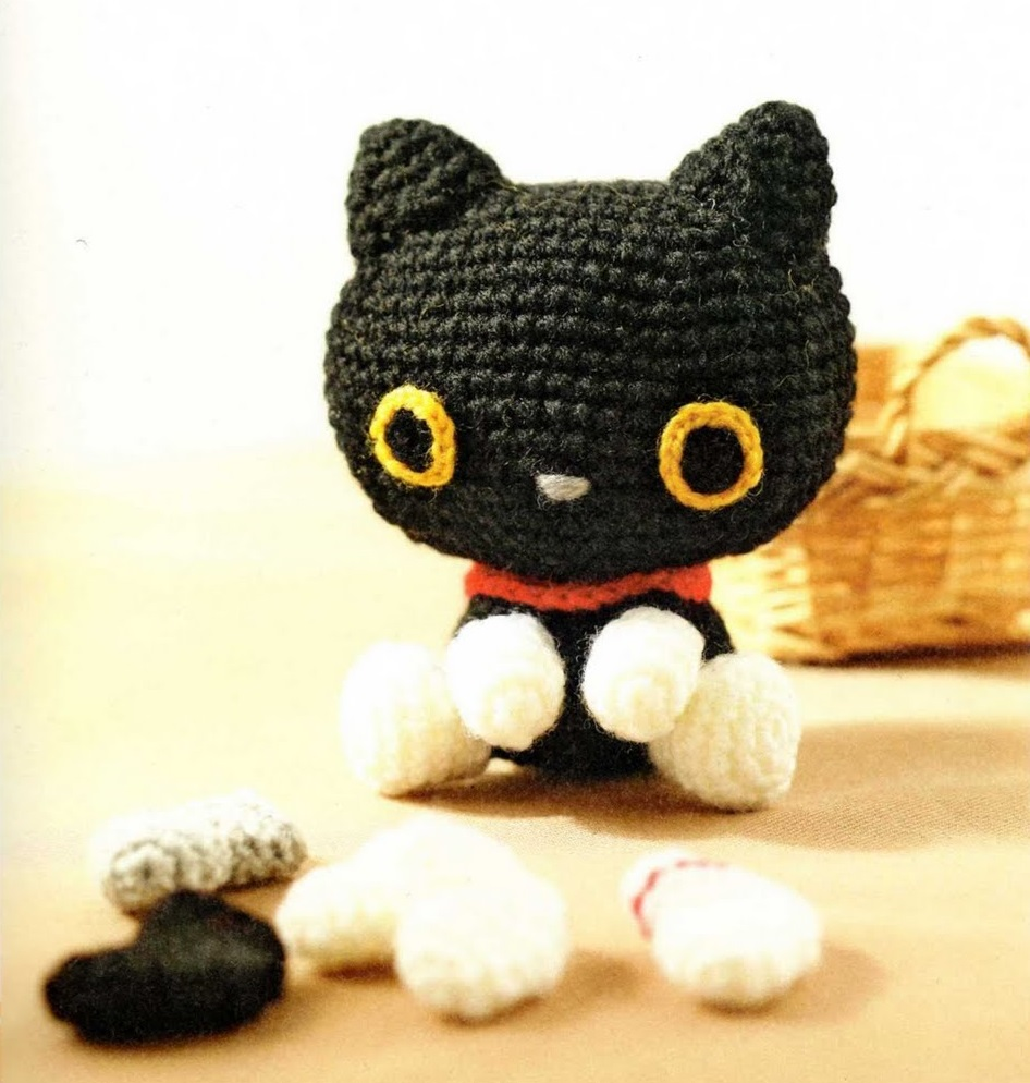 Амигуруми схемы котов вязания крючком