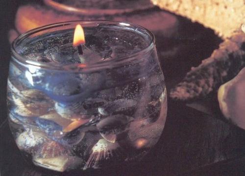 Сувенир свеча НОВОГОДНЯЯ ЕЛКА светящаяся внутри 8х14 см