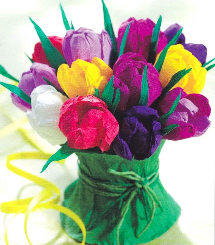 Цветы фото из гофрированной бумаги своими руками