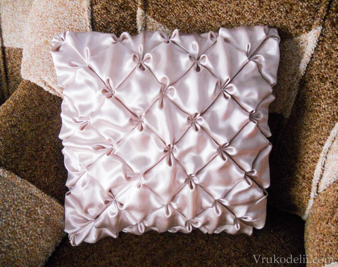 схема сшития подушки узором