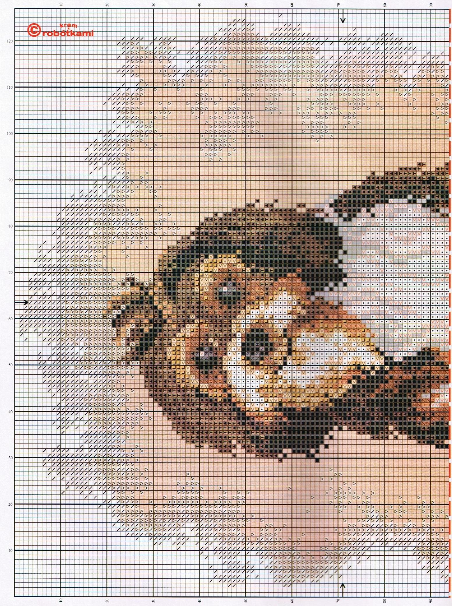 Вышивка крестом собаки маленькие схемы