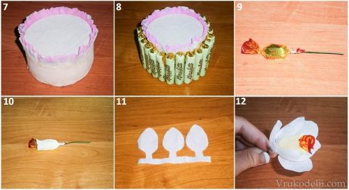 Сделать торт из конфет своими руками фото