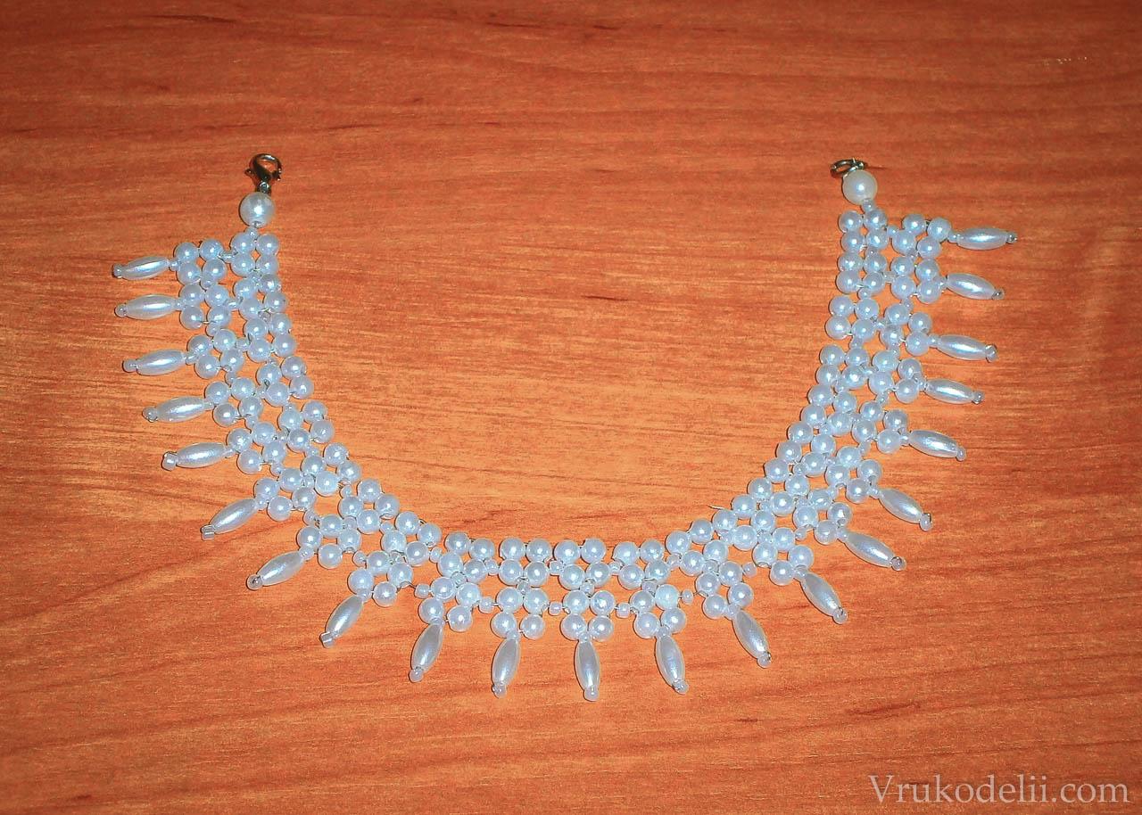 Ожерелье из бисера для начинающих пошаговое фото