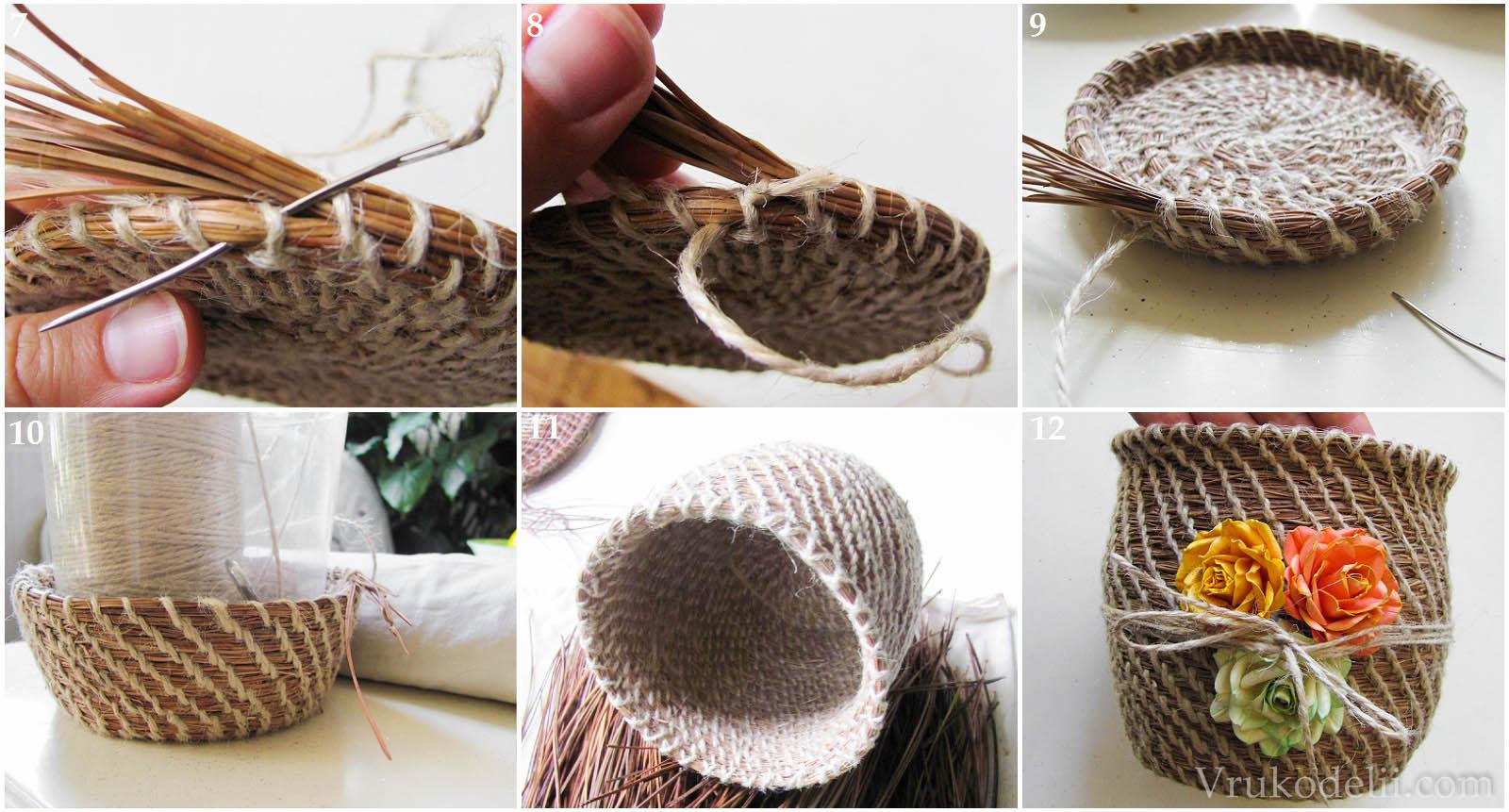 как изготовить кашпо из шнура фото мк многих петербуржцев