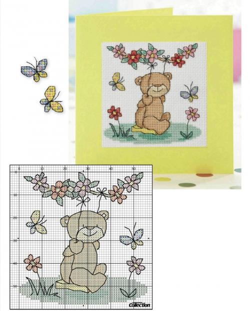 Схемы вышивка для открыток 85