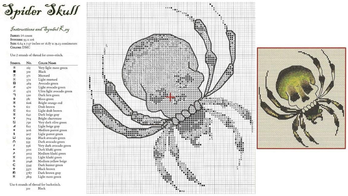 Схема вышивки крестиком человек паук 96