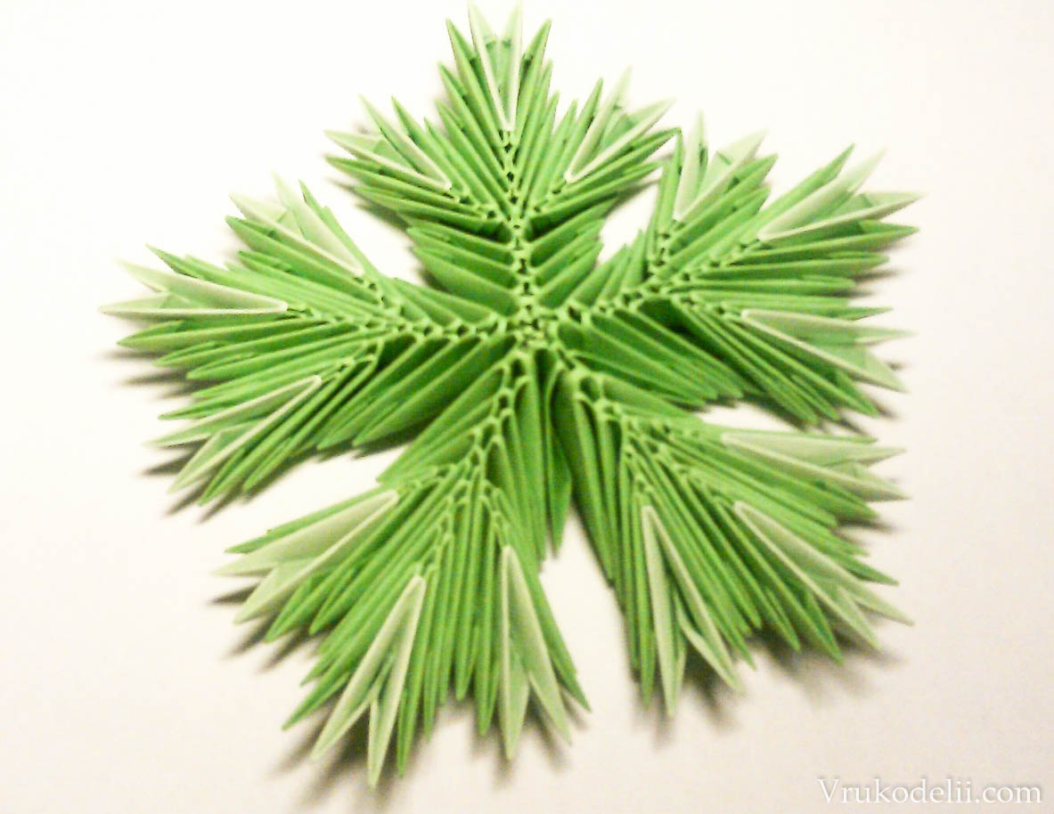 модульное оригами схема елки для начинающих