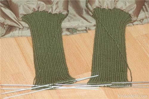 вяжем рукав спицами