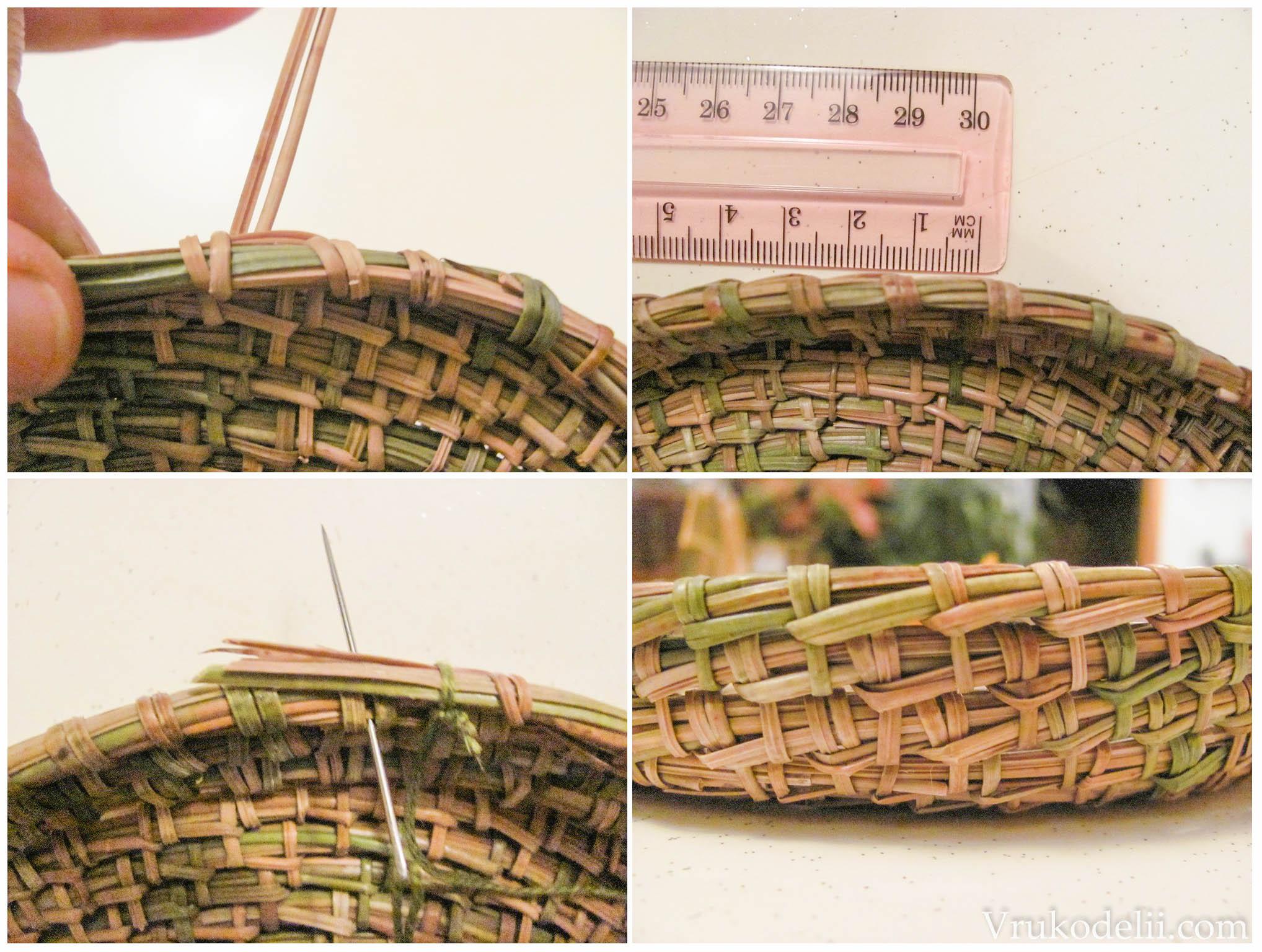 Плетение круглого подноса