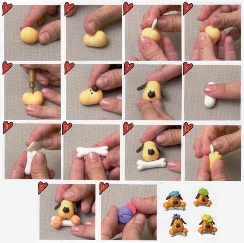 Фигурки из соленого теста своими руками для начинающих пошагово 54